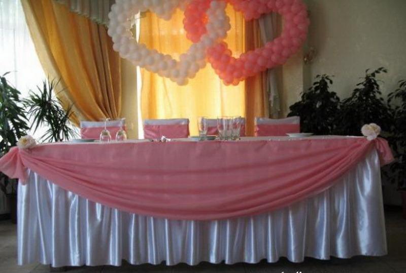 Как украсить стол тканью на свадьбу своими руками